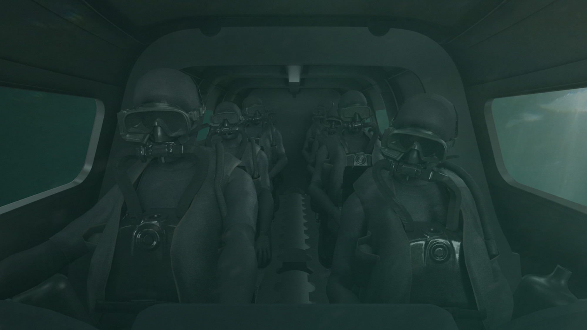 Operators submerged
